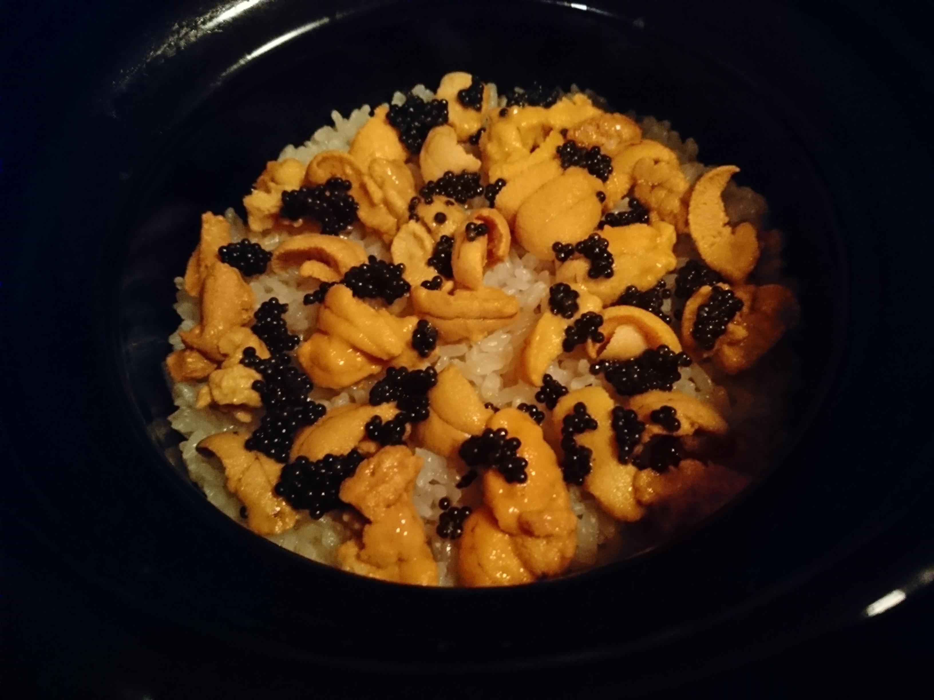 ウニの炊込みご飯